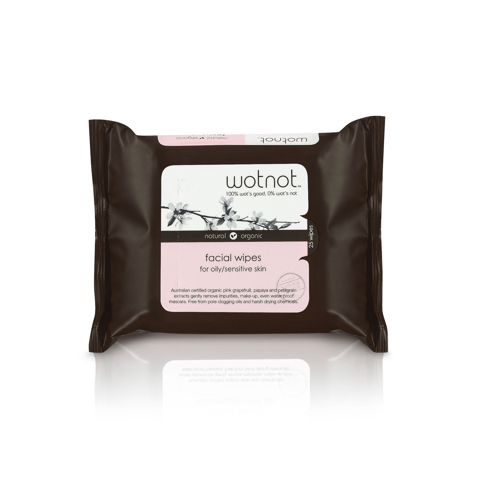 Wotnot Natural Facial Wipes For Oily & Combination Skin