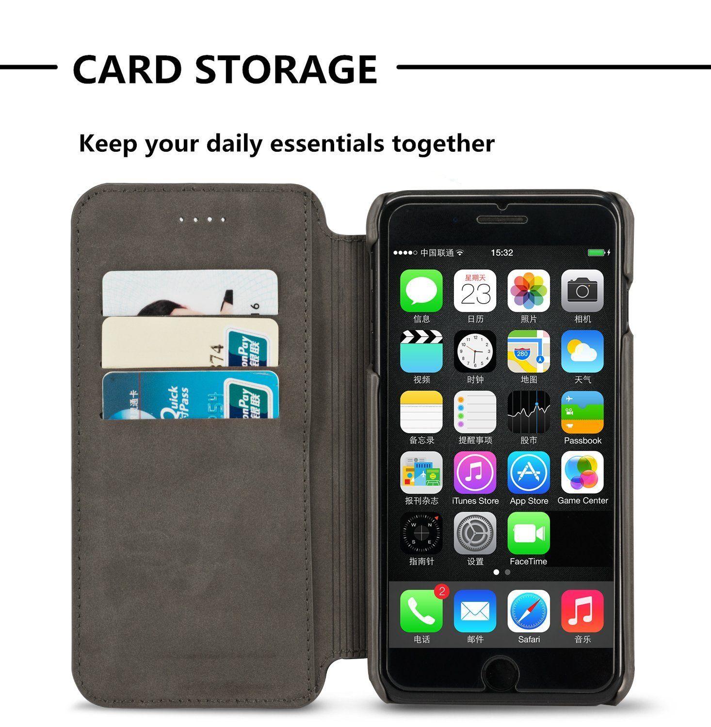 Iphone 8 Plus 7 Plus Genuine Leather Case Idools Pu Leather Wallet