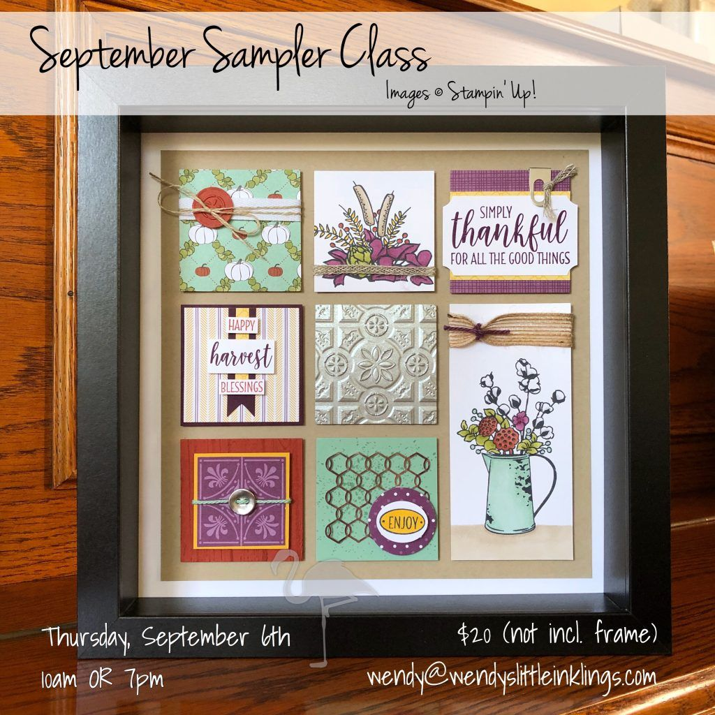 September Shadowbox Sampler Class Country Lane Suite