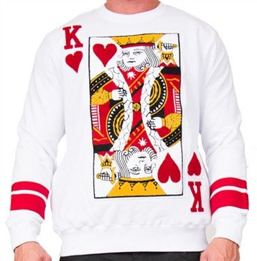 D9 Reserve Suicide King King Of Hearts Crewneck Sweater Products