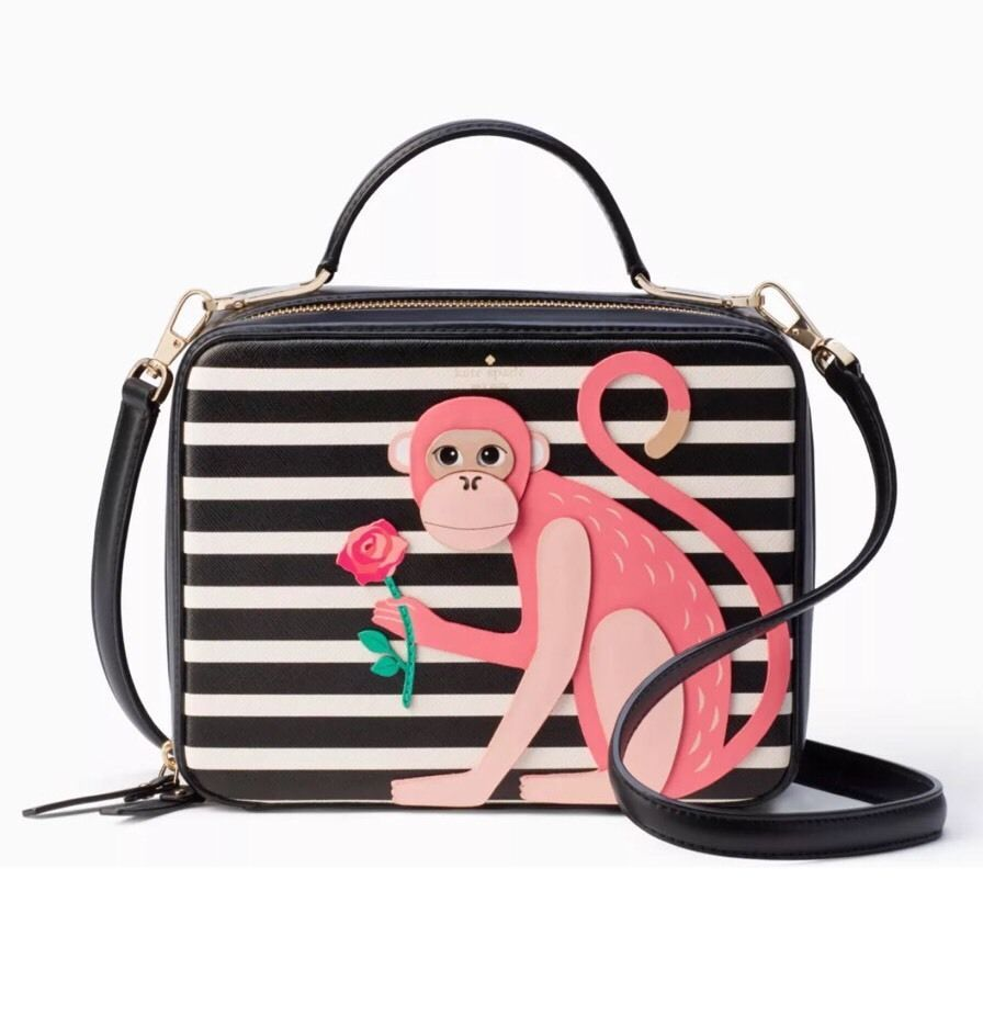eb66fe281b75 NWT Kate Spade Rambling Roses Monkey Casie Bag Leather crossbody Handbag
