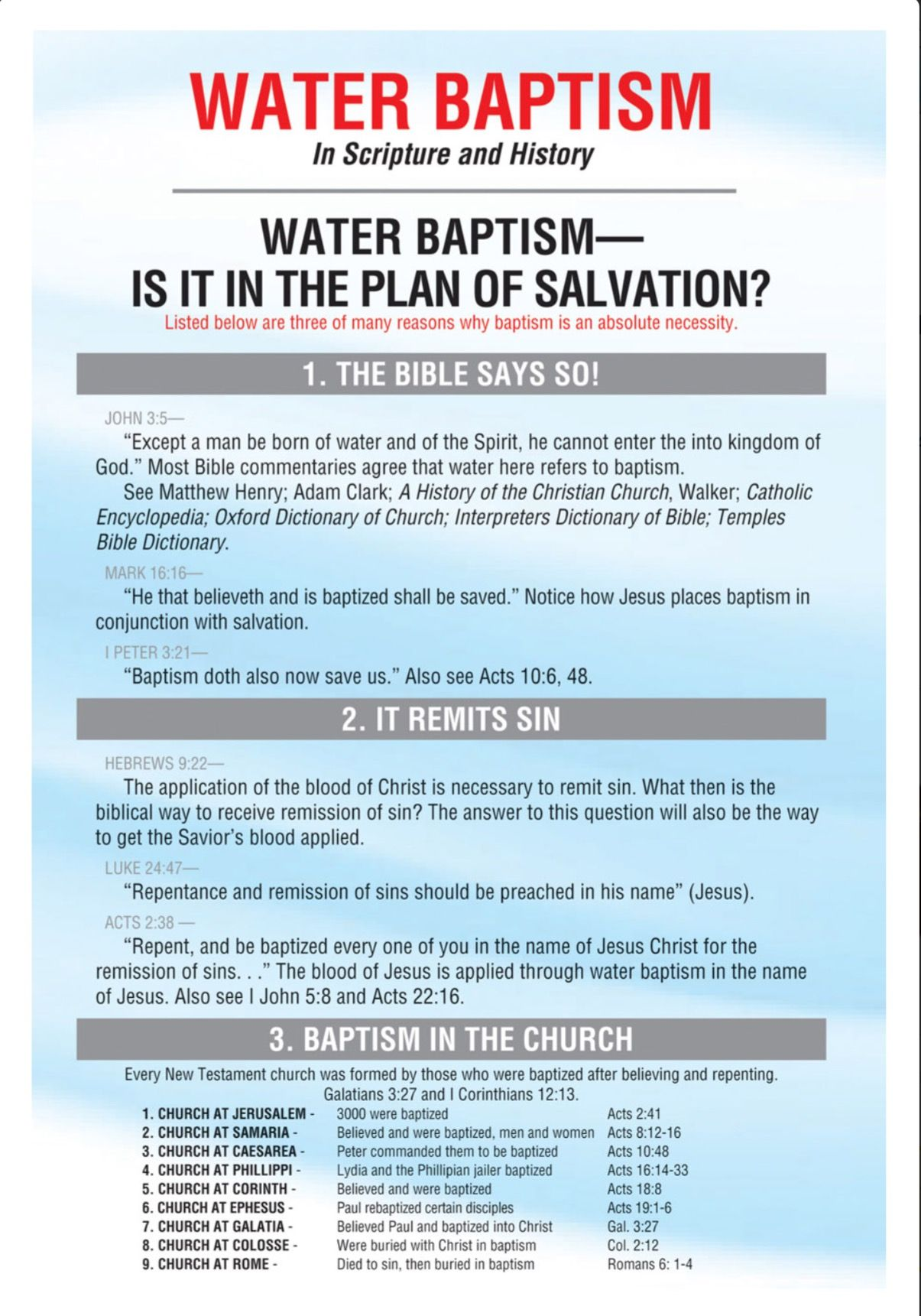 Baptism in Jesus Name Bible study, Bible knowledge