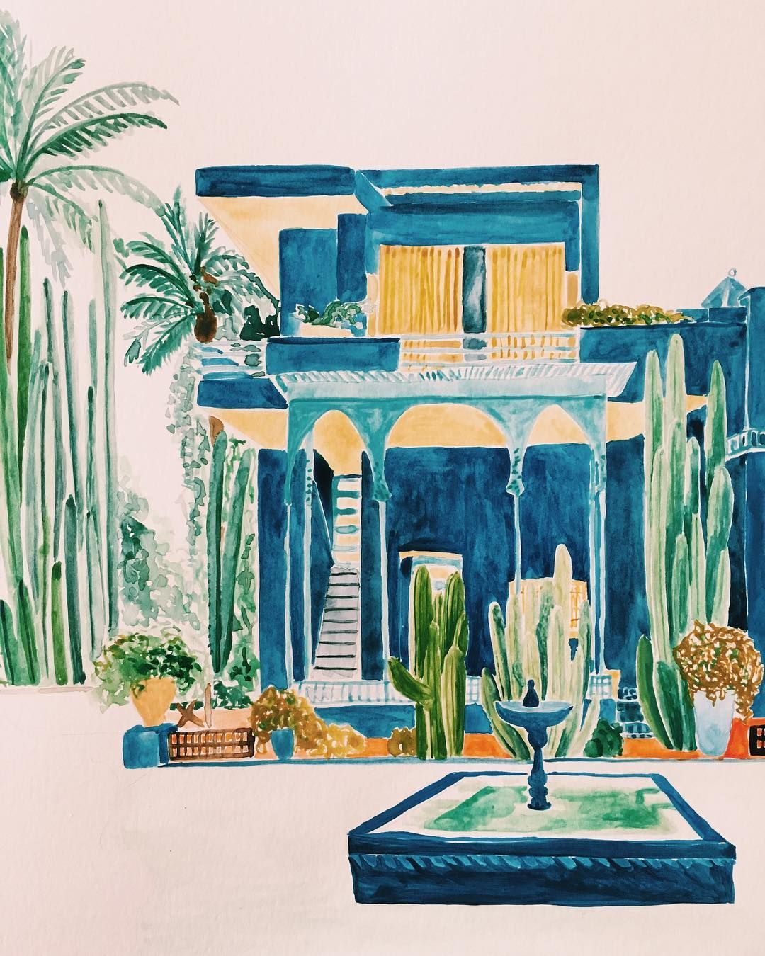 Jardin Majorelle By Rosie Harbottle For Boutique Souk Dessin