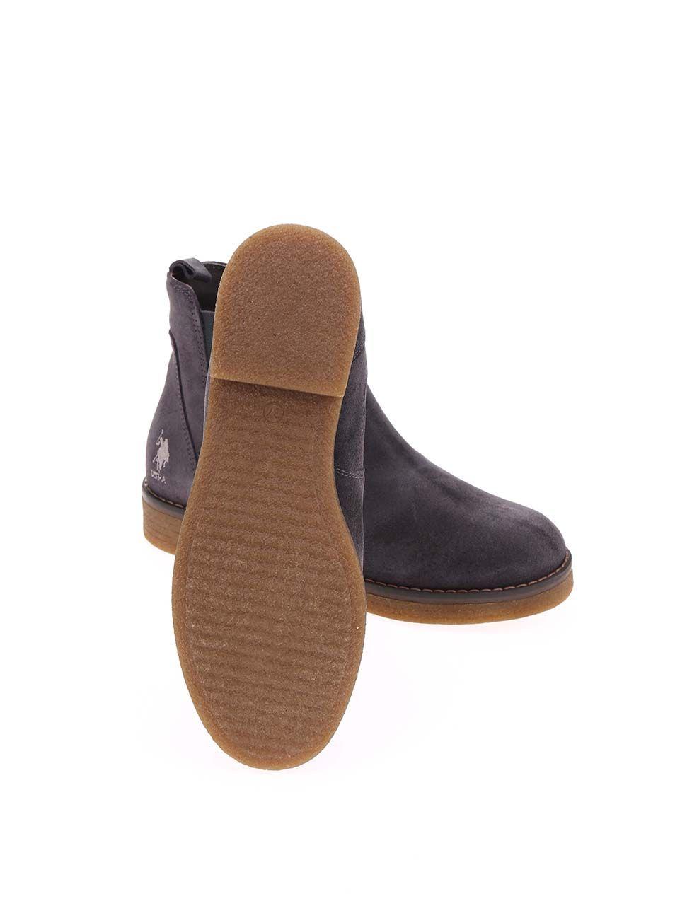 dcb07220532c Sivé dámske kožené topánky U.S. Polo Assn. Margot