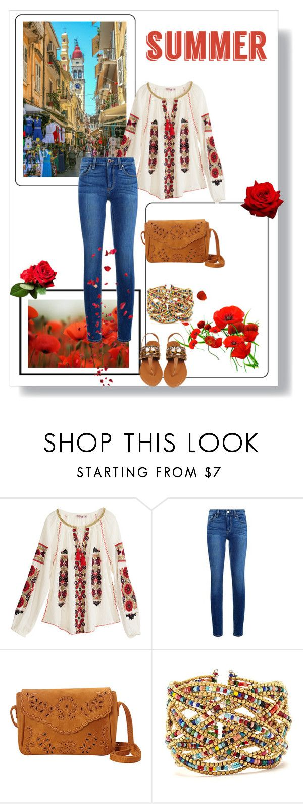 """""""Summer Sandals"""" by dezaval ❤ liked on Polyvore featuring Calypso St. Barth, Paige Denim, Nu-G, Forever 21, Dolce&Gabbana and summersandals"""