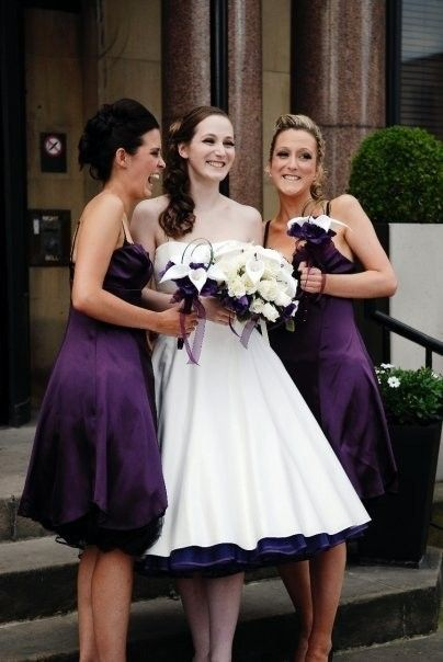 Wedding Dress With Purple Petticoat Love The Hint Of Bright Colored Sticking Out Underneath