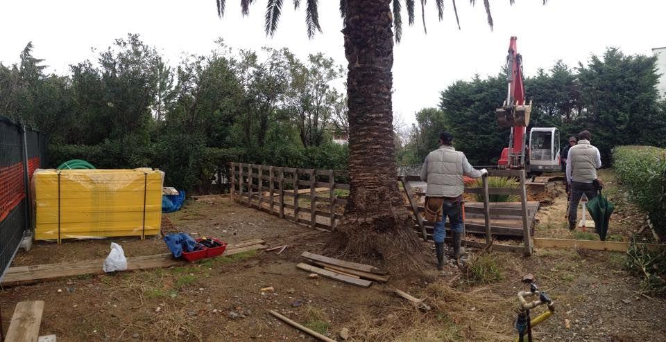 Inizio scavi lavori Arenzano Ge