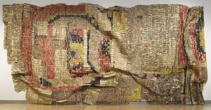 El Anatsui (Ghanaian, b. 1944). Earth's Skin, 2007. Aluminum and copper wire, 177 x 394 in. (449.6 x 1000.8 cm).