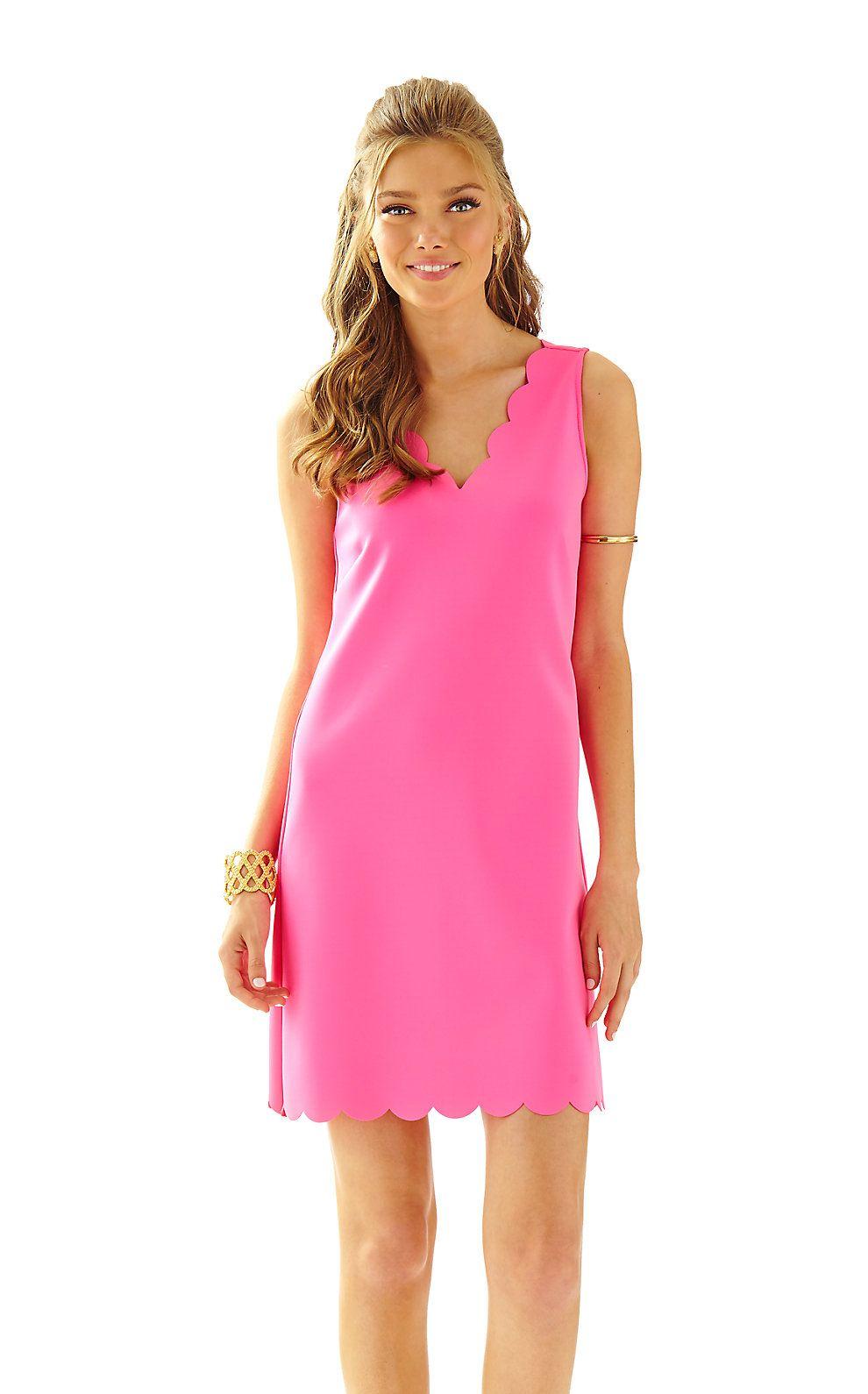 Mikayla Scallop Hem V-Neck Shift Dress | Lilly Pulitzer New Arrivals ...