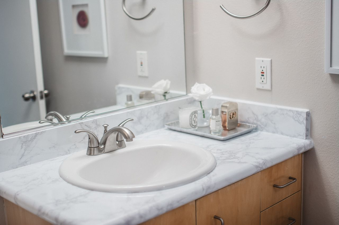 How To Update Your Bathroom With Marble Contact Paper Cabinet Furniture Thick Wallpaper Contact Paper