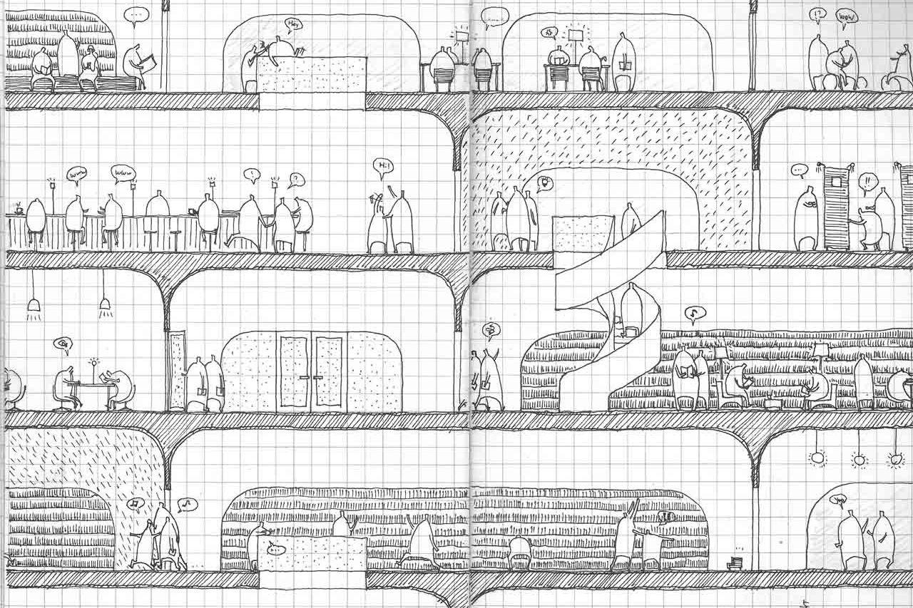 Kw hg musashino place secciones alzados pinterest - Alzado arquitectura ...