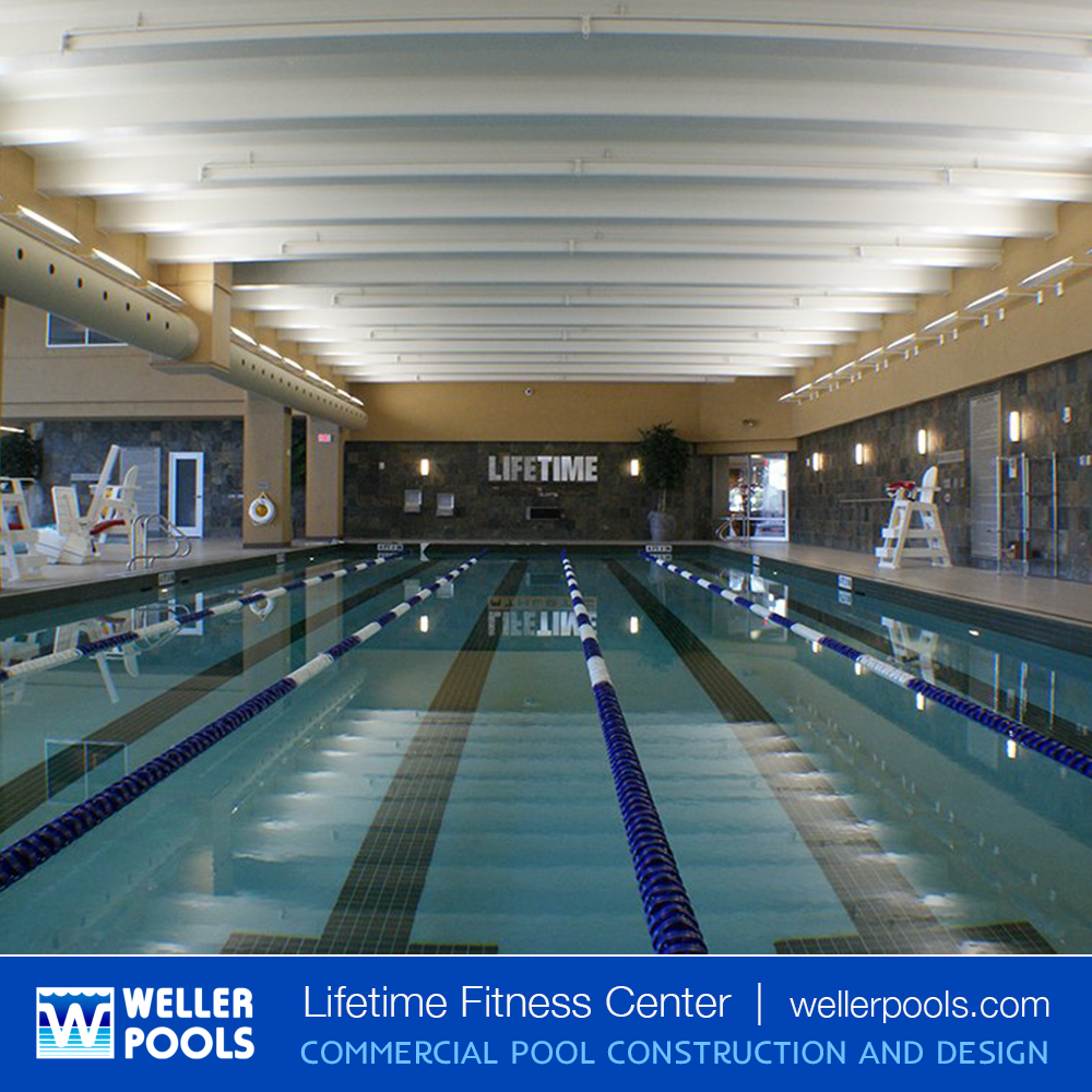 In 2012 Weller Pools Built The Indoor Lap Pool At The Lifetime Fitness Center In Sandysprings Ga At Lifetime Fitness Fitness Center Pool Construction
