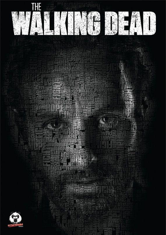 Walking Dead Negan & Rick Typography Twin by ExtremepandaDesign