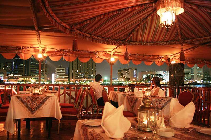 Interior of the Dubai dinner cruise