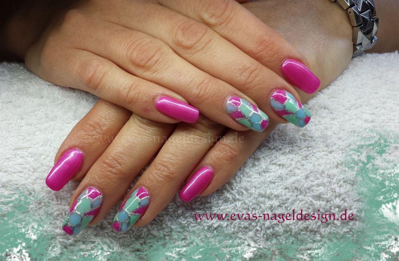 Evas Nageldesign French Fullcover Bunt Nails Nagel Nails