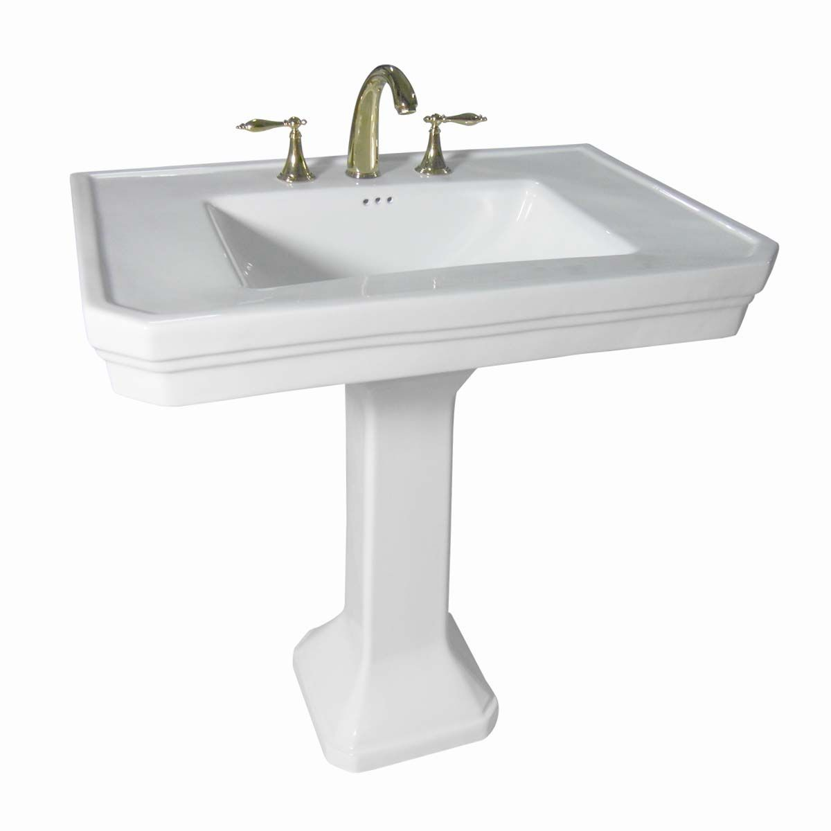 Bathroom Pedestal Sink White Vitreous China 8 Widespread Remodeling Pedestal Sink Traditional Bathroom Sink