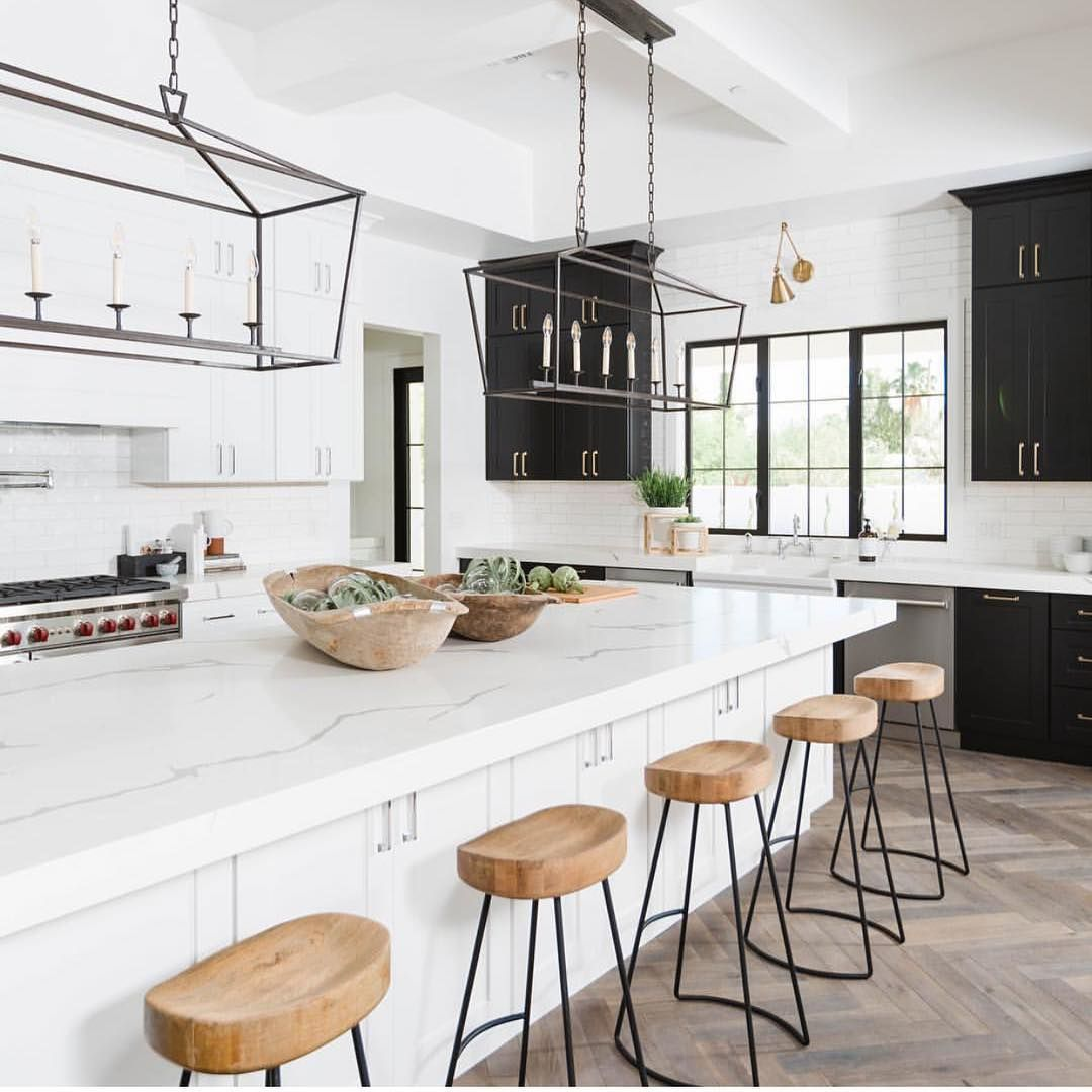 Lighting Connection On Instagram Lifestyledco Shows Us That An Extra Long Kitchen Island Calls For Due Kitchen Remodel Kitchen Design Bohemian Kitchen Decor