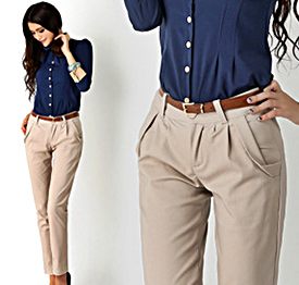 Cream women's trousers for work or formal occasions. http://www ...