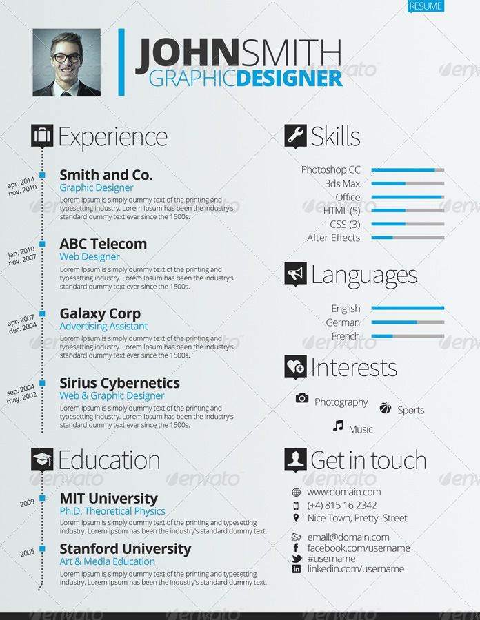Resume/CV Set Career endeavors Pinterest Resume cv and Perfect