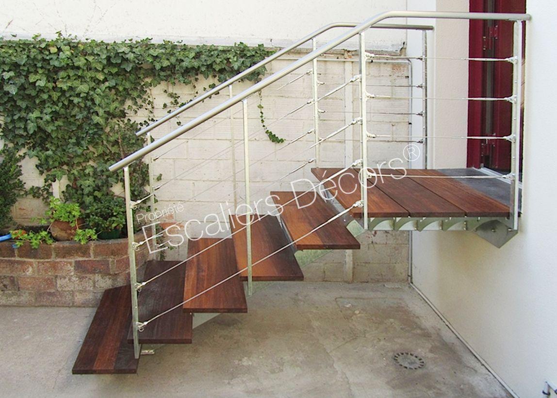 Escalier sur limon central - Escaliers Décors® | Escalier ...
