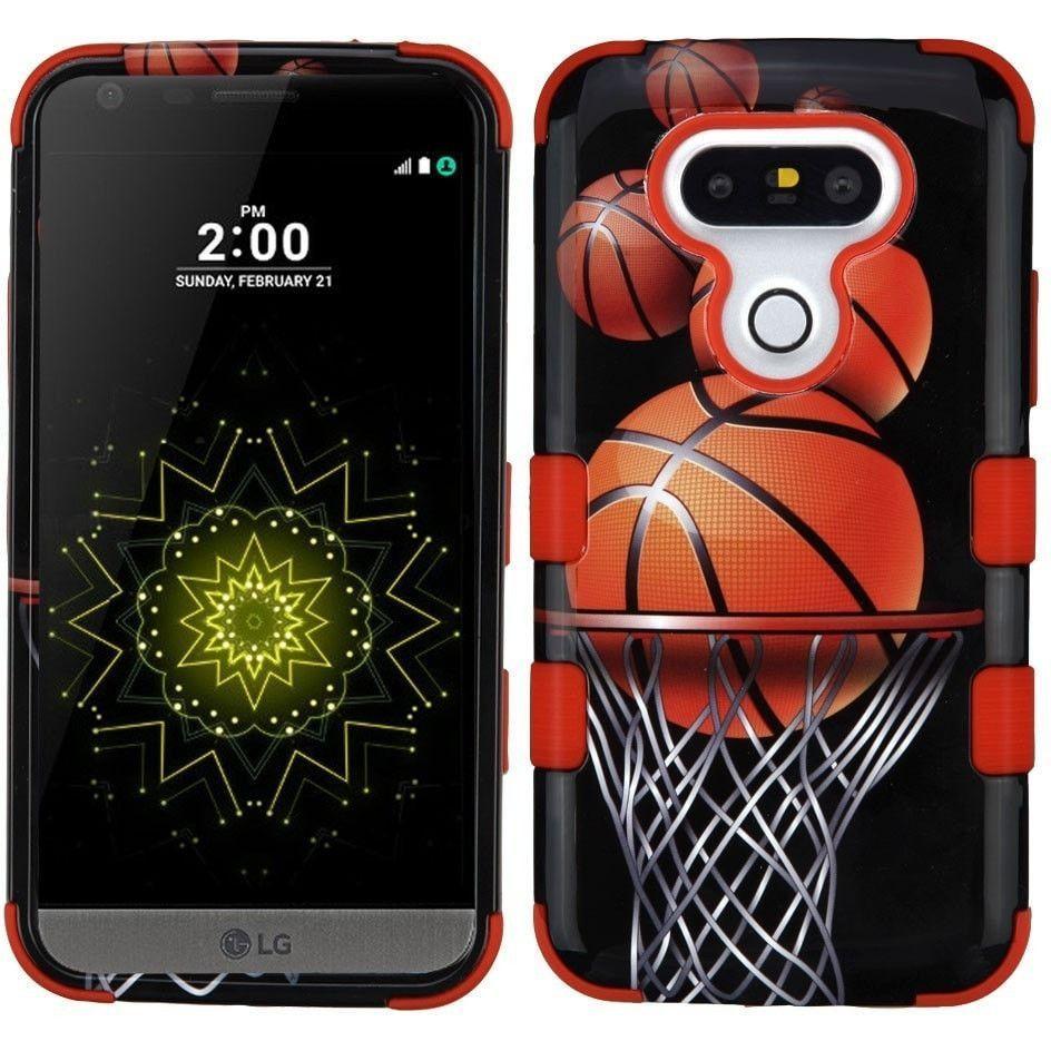 MYBAT TUFF Hybrid LG G5 Case (Graphics) - Basketball Hoop/Red