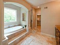 Now This Is A Spa Escape Master Bathroom With Steps Up To This Garden Tub  Framed