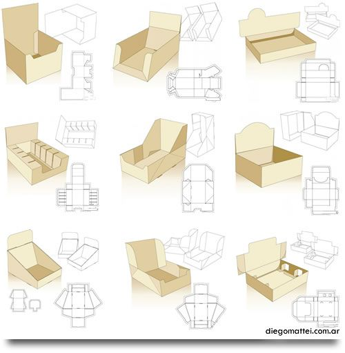 Todo para Packaging: Ideas y Moldes | Box templates, Template and Box