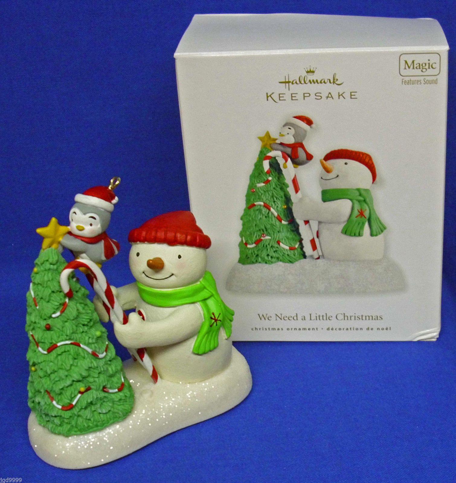 Hallmark Ornament We Need A Little Christmas 2010 Snowman