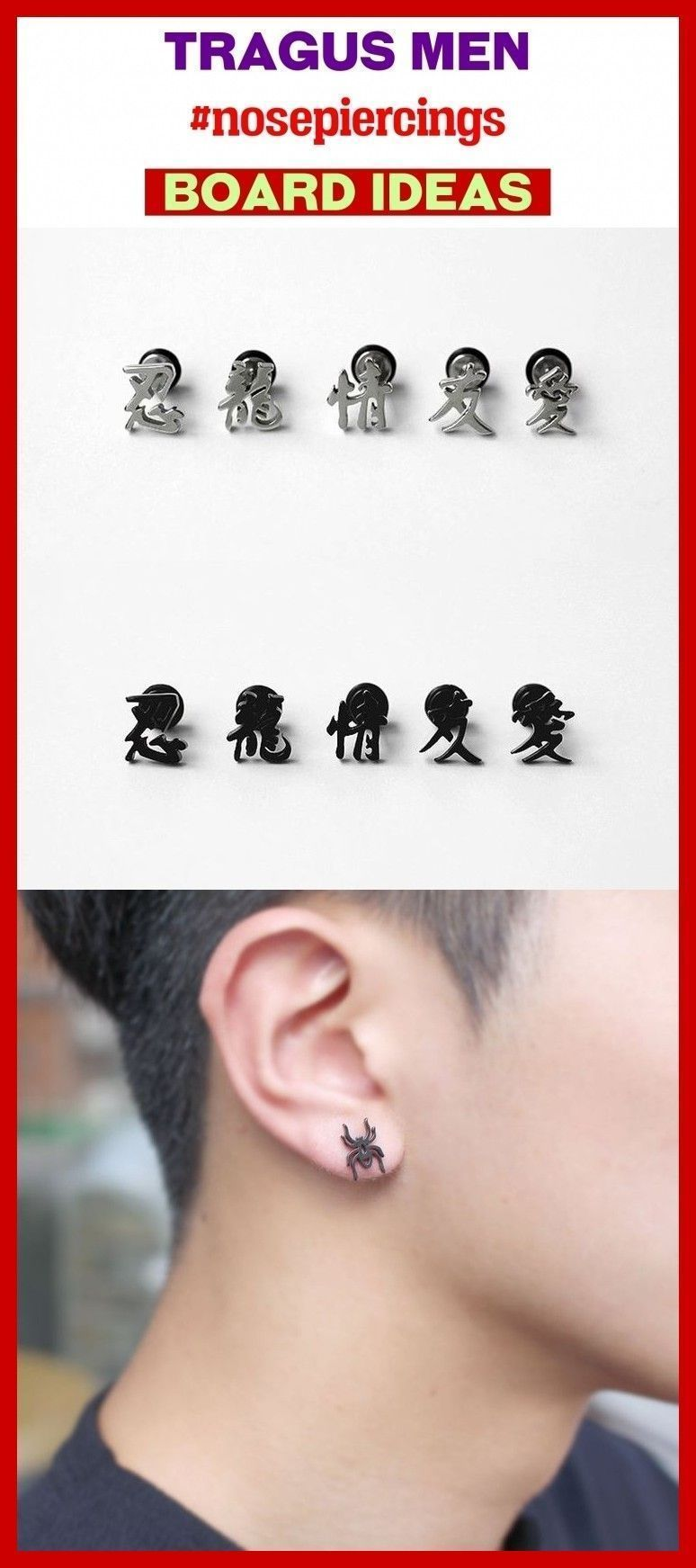 Body painting tragus hombre, tragus arete, tragus piercing wome