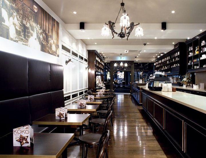 Koko Black chocolatier by Mim Design, Melbourne patisserie hotels and restaurants chocolate store