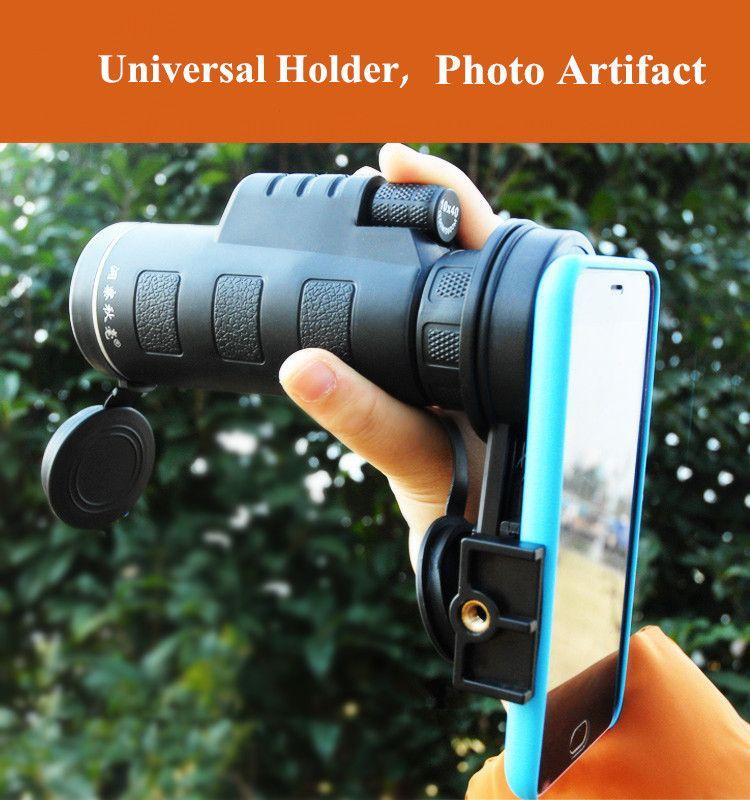 Universal 10x40 Hiking Concert Camera Lens Monocular+Phone Holder For Smartphone Sale - Banggood.com