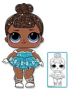 Dolls Lol Surprise Dolls For Painting Craft Colouring In Big Sis Lil Sis Dolls, Clothing & Accessories