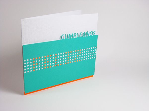 Tarjeta creativa para La Pareja Creativa realizada con el troquel - tarjetas creativas