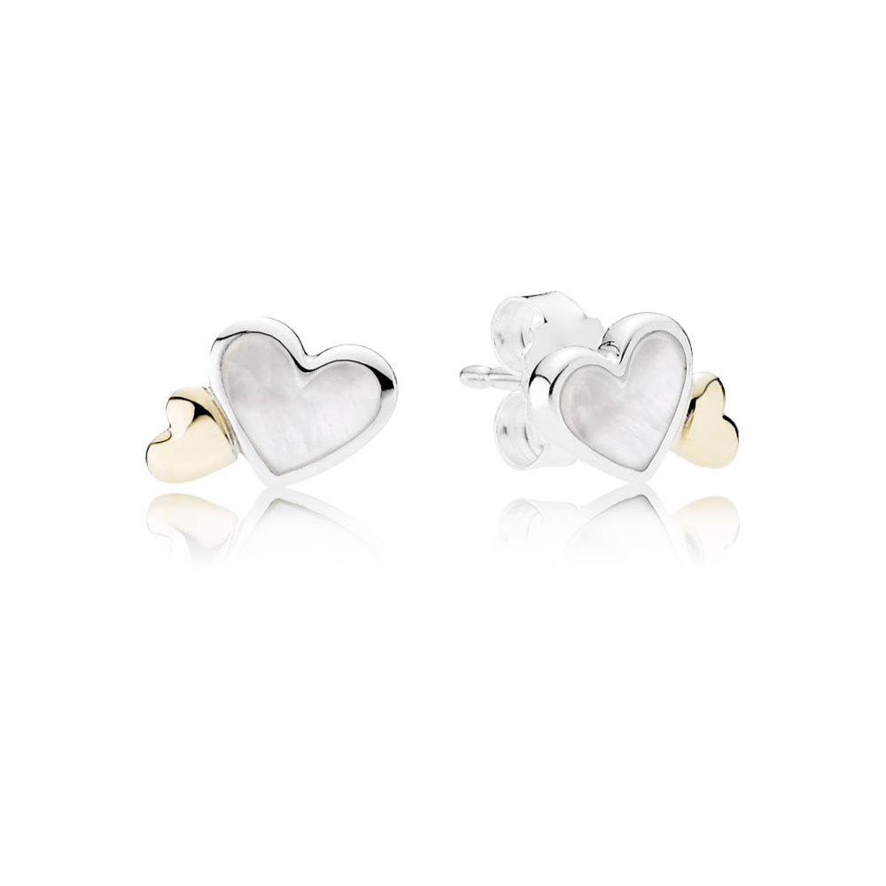 Luminous Hearts Stud Earrings Pandora Uk E