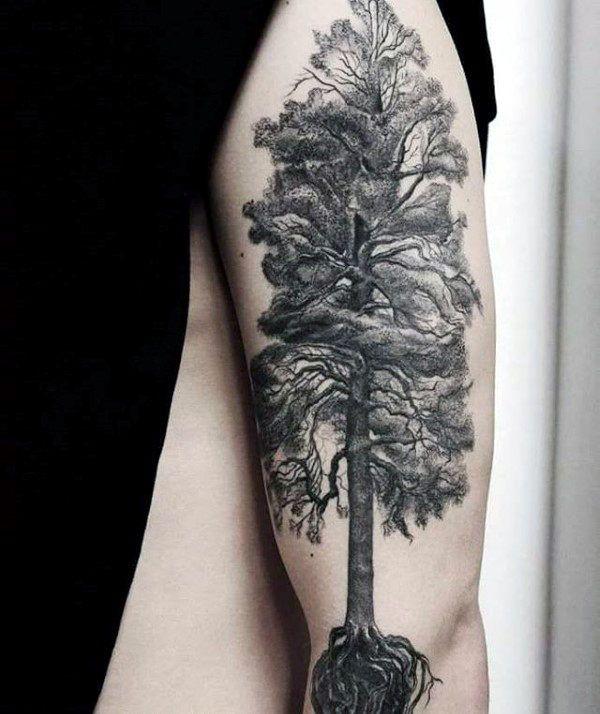 Start A Fire Tree Roots Tattoo Tree Tattoo Men Roots Tattoo