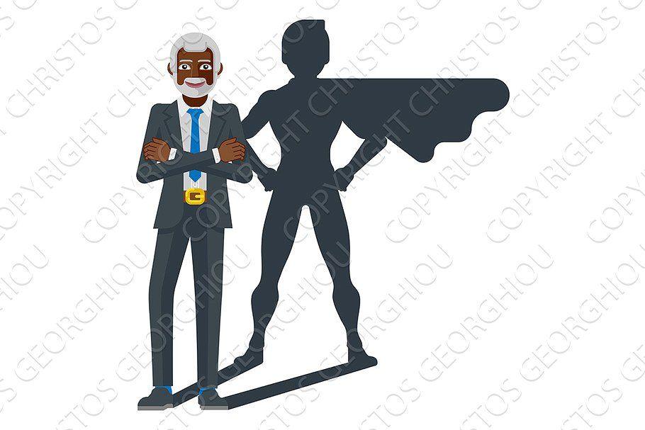 Business Person Super Hero Cartoon In 2020 Superhero Silhouette Superhero Hero
