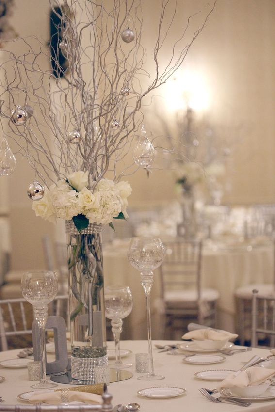 New Year S Eve Romance Curly Willow Centerpieces Flower Arrangements New Years Eve