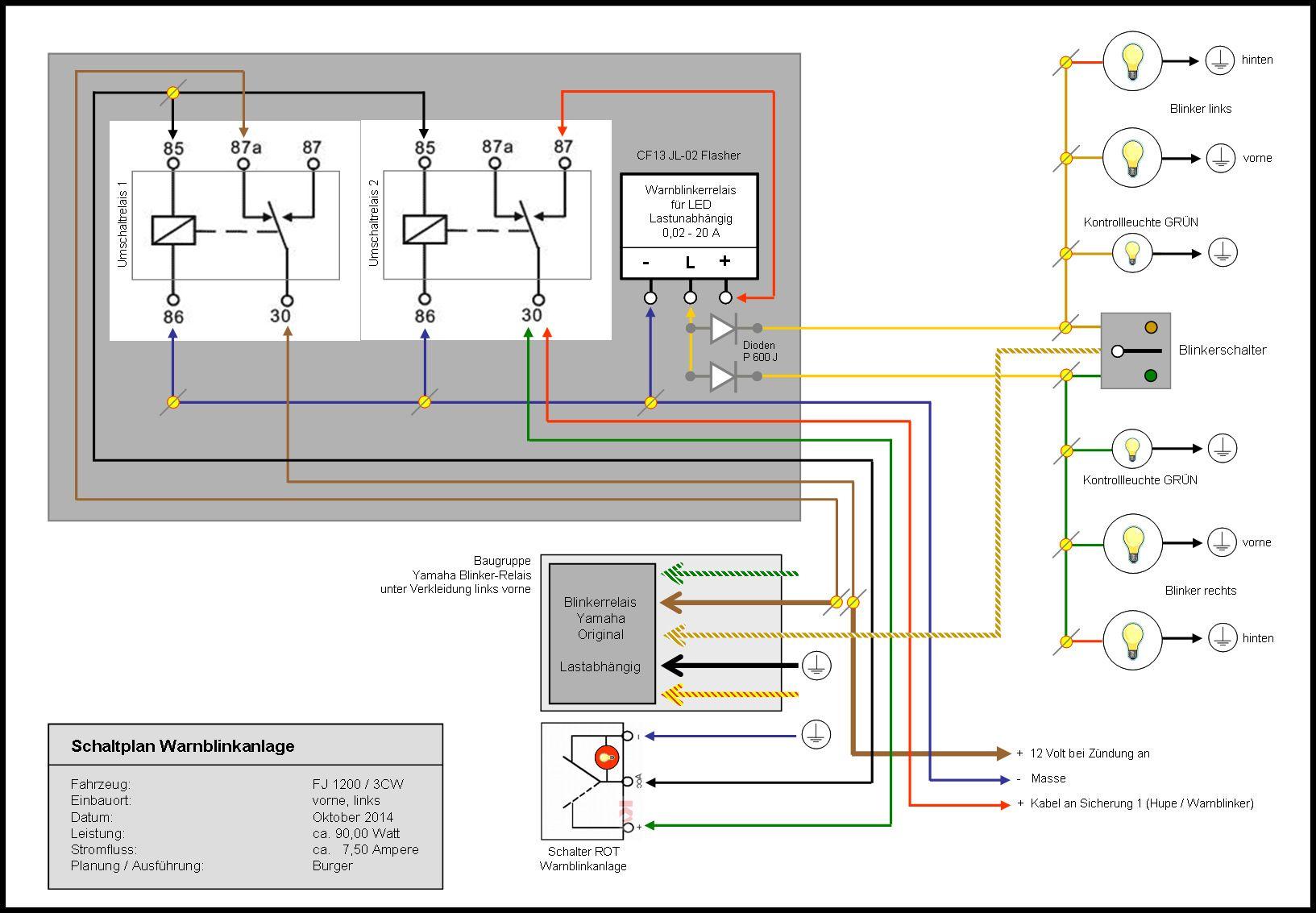 Schaltplan Warnblinkanlage Schaltplan Schalter Planer