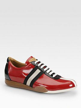 Bally Freenew Patent Leather Sneakers