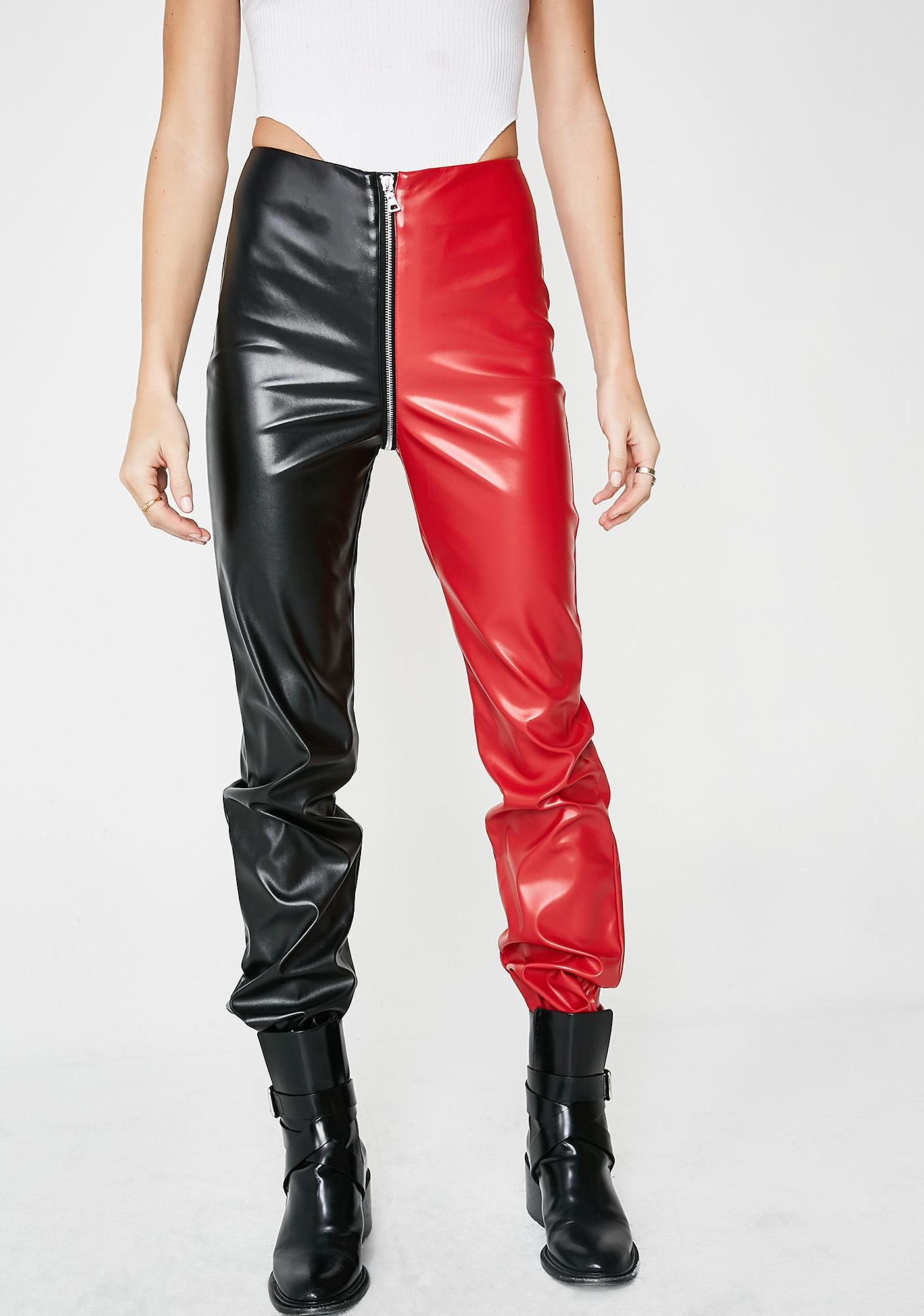 80a6a4fa3 I AM GIA Blondie Pants who really has more fun?! Show 'em you do with these  dope af pants that have one red side, one black side, a slim fit thru the  ...