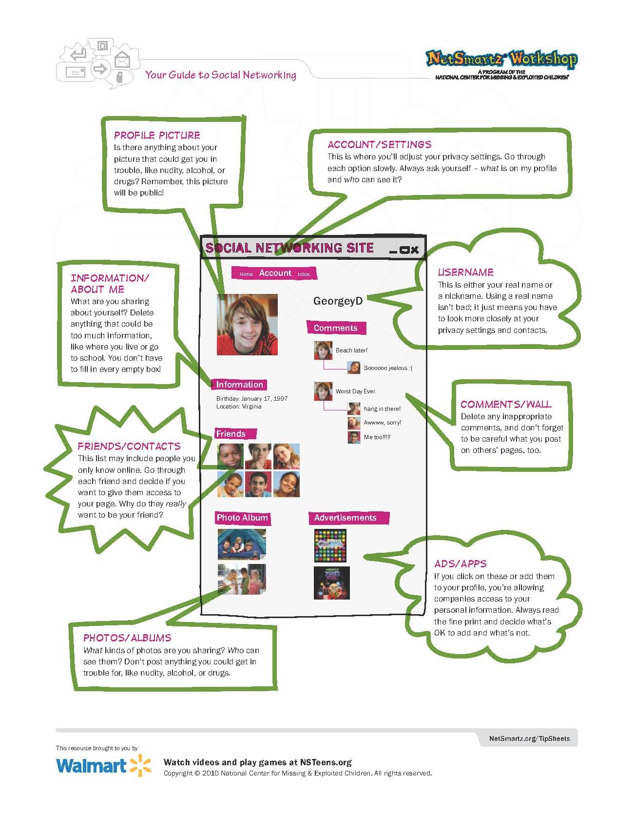 Social Networking Tips For Teens Netsmartz 2 Of 2