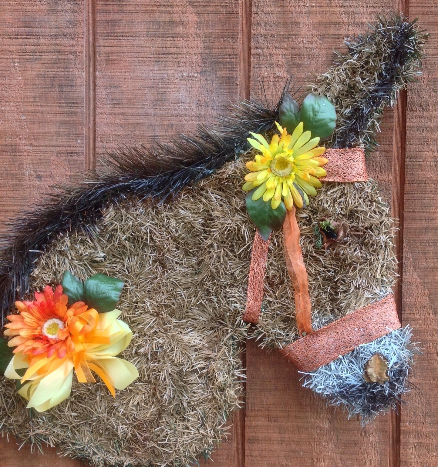 This donkey wreath is available for sale horse donkey for Craft wreaths for sale