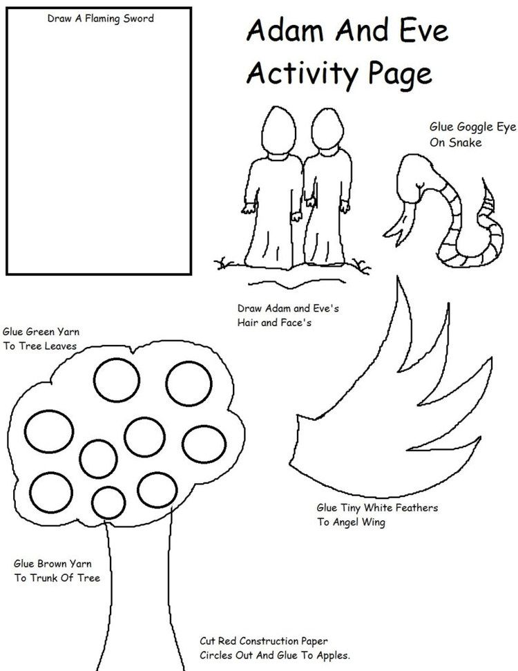 Adam And Eve Coloring Pages Printable Adam Eve Coloring Pages