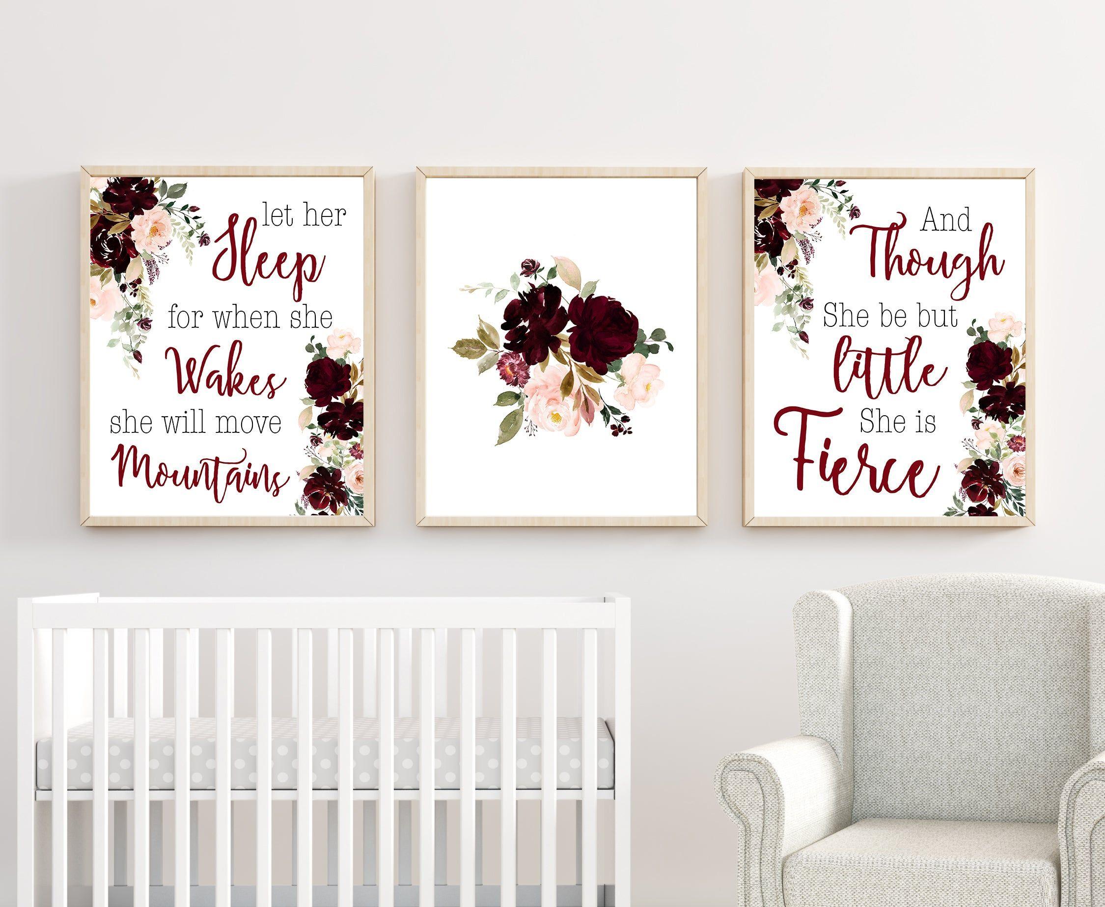 Floral Nursery Decor Baby Room Wall Art Nursery Decor Girl Nursery Wall Art Floral Bedroom Art In 2020 Floral