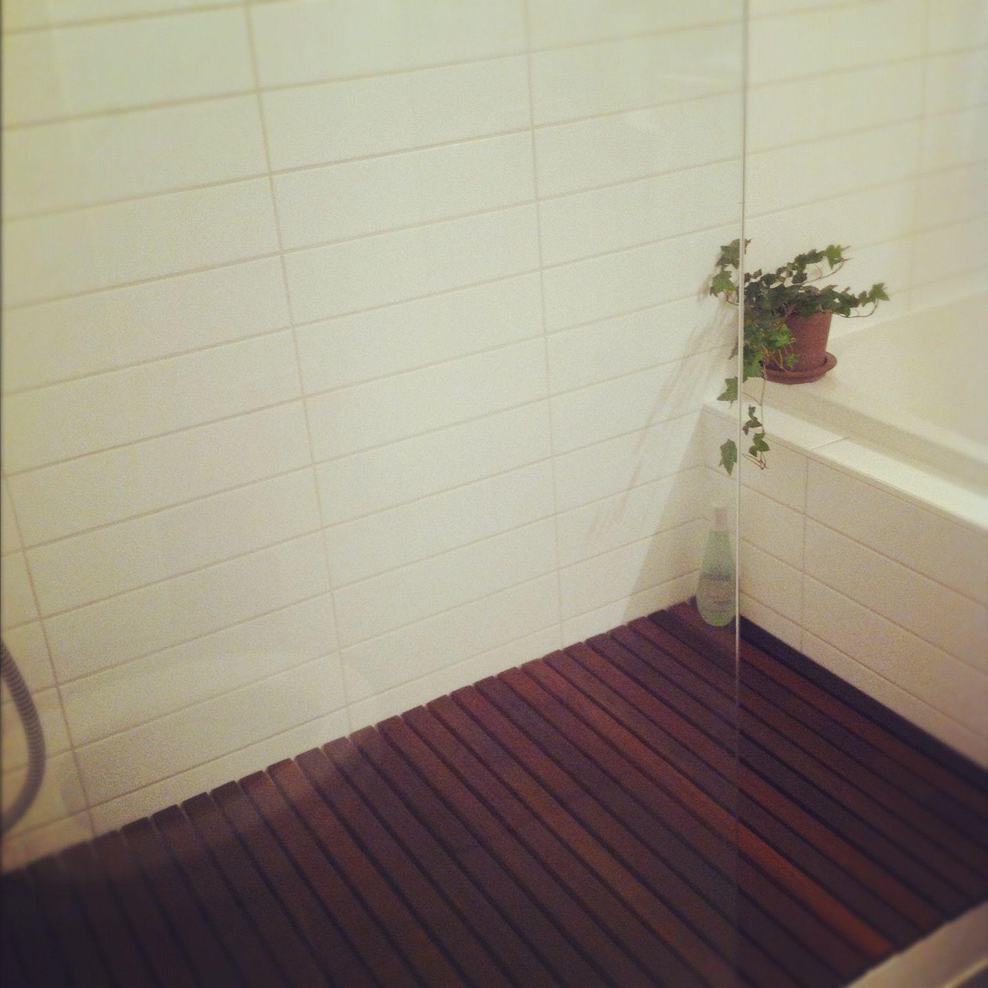 Kids Bathroom Flooring For Mom And Dad Diy Ipe Shower Floor Miscellaneous House Ideas