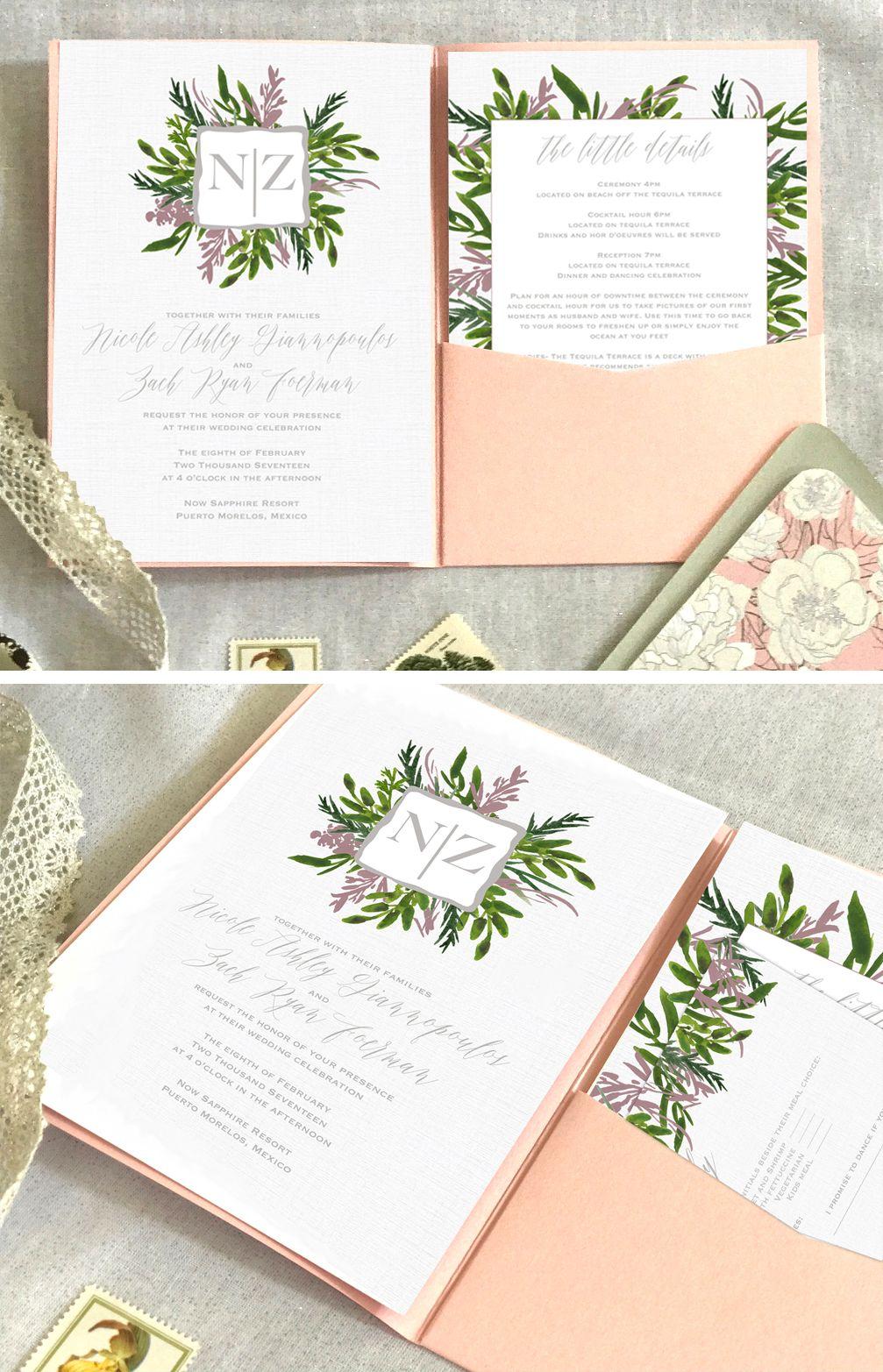 Neutral Wedding Color Invitations Mauve Wedding Invitations Greenery Wedding Cheap Wedding Invitations Digital Wedding Invitations Neutral Wedding Invitation