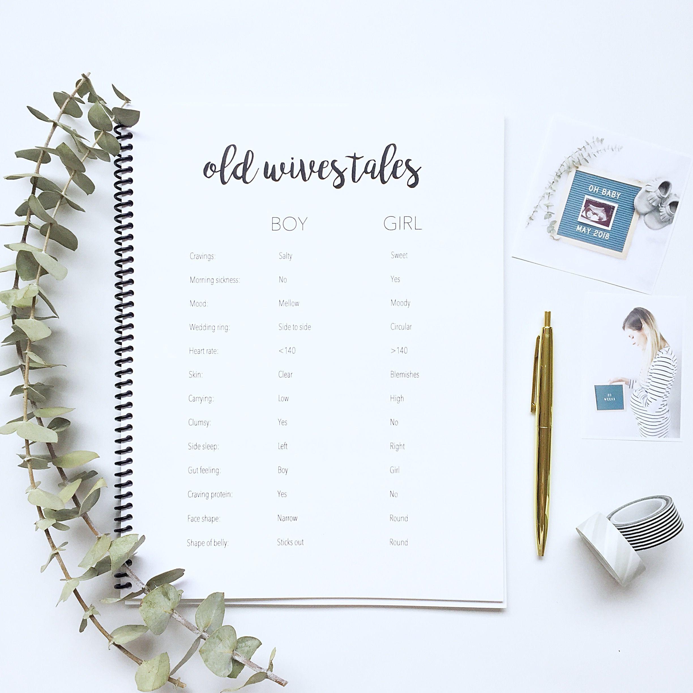 Pregnancy Journal Diary Baby Book Simple Modern Gender Neutral Monochrome