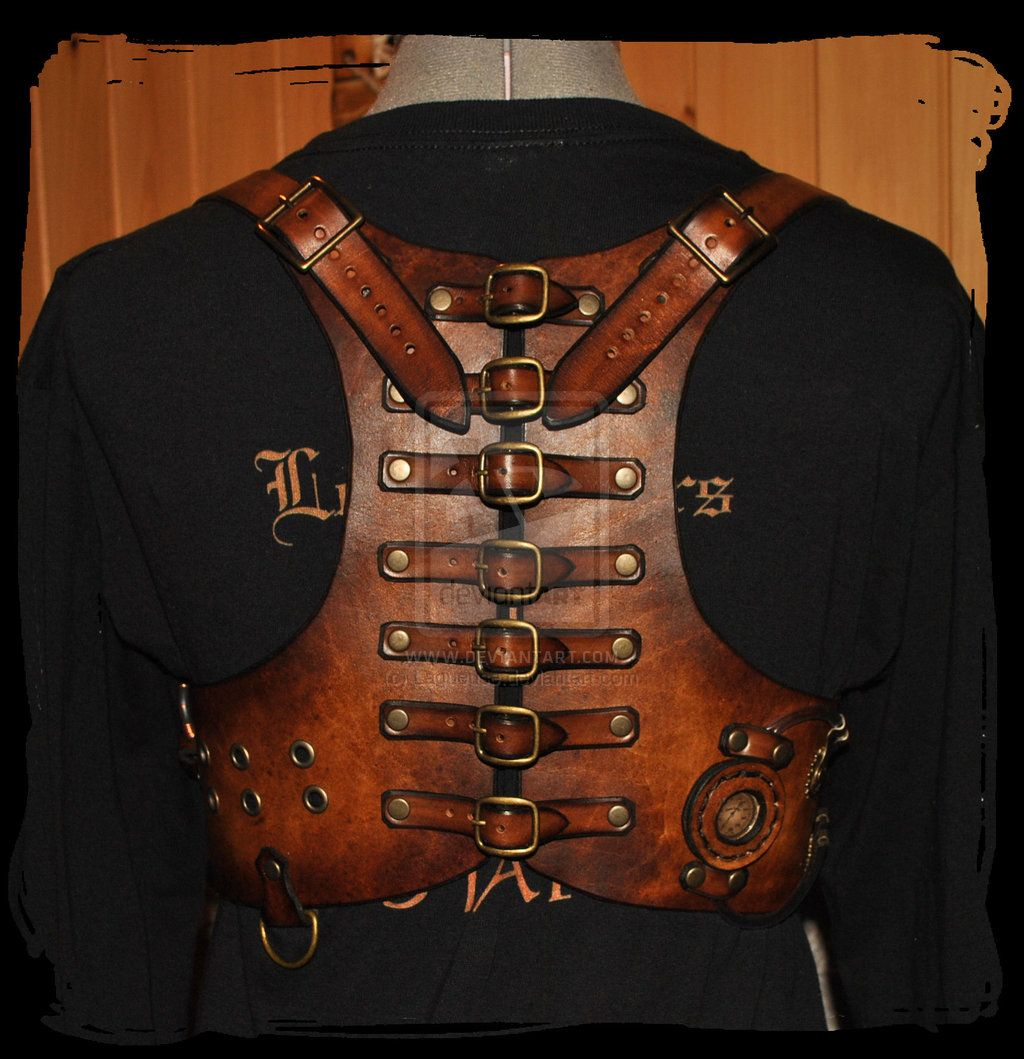 steampunk leather harness by Lagueuse.deviantart.com on @deviantART
