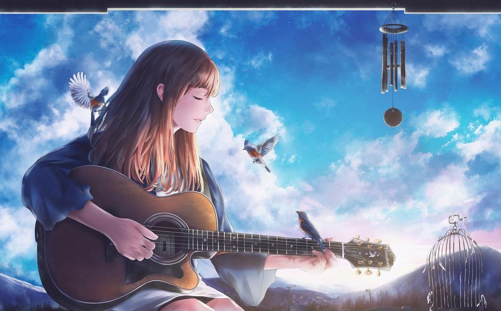 Anime Girl With Guitar