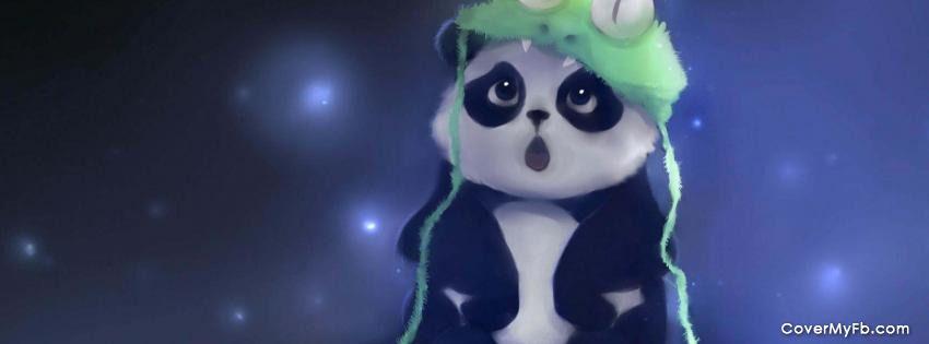Adorable Panda Panda Painting Facebook Cover Images Panda Love